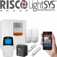 מערכת אזעקה LightSYS 2 + לוח מקשים + אפליקציה + מגנט לדלת + 2 גלאי נפח + סוללה + וסירנה