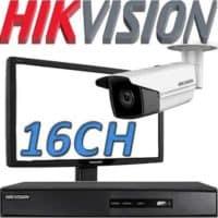 Nvr ל 16 מצלמות אבטחה Hikvision