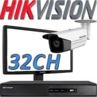 Nvr ל 32 מצלמות אבטחה Hikvision