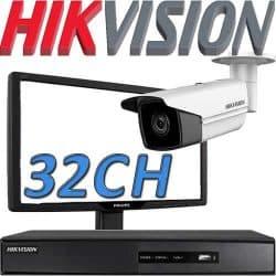 Dvr ל 32 מצלמות אבטחה Hikvision