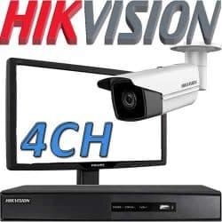 Nvr ל 4 מצלמות אבטחה Hikvision