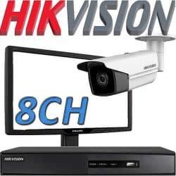 Nvr ל 8 מצלמות אבטחה Hikvision