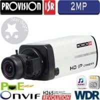 מצלמת IP גוף 2MP כולל WDR תפריט OSD ללא עדשה