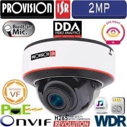 """מצלמת כיפה 2MP עדשה חשמלית 2.8-12 מ""""מ סדרה Eye-Sight V2 אנטי וונדל"""