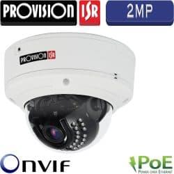 """מצלמת כיפה IP אנטי וונדל אינפרה רזולוציה 2MP עדשה 3.6 מ""""מ כולל PoE מרחק הארה 15 כולל אודיו"""