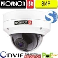 """מצלמת כיפה IP אנטי וונדל אינפרה רזולוציה 8MP עדשה 3.6 מ""""מ DAI+280IP5S36"""