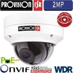 """מצלמת כיפה IP אנטי וונדל אינפרה רזולוציה 2MP עדשה 3.6 מ""""מ"""