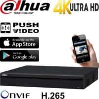 מערכת הקלטה NVR ל 8 מצלמות אבטחה IP רזולוציה 4K 8MP דיסק 2TB דגם NVR4208-4KS2