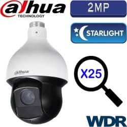 """מצלמה ממונעת HDCVI רזולוציה 2MP עדשה 4.8-120 מ""""מ זום כפול 25 כולל WDR מלא (120db) טווח הארה 150 מטר"""