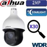 """מצלמה ממונעת HDCVI רזולוציה 2MP עדשה 4.5-135 מ""""מ זום כפול 30 כולל WDR מלא (120db) טווח הארה 150 מטר"""