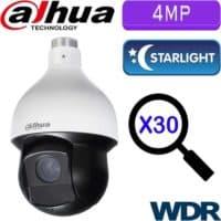 """מצלמה ממונעת HDCVI רזולוציה 4MP עדשה 4.5-135 מ""""מ זום כפול 30 כולל WDR מלא (120db) טווח הארה 150 מטר"""