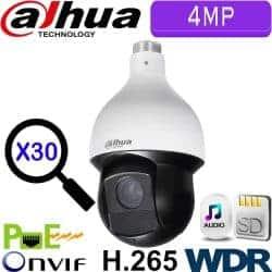 """מצלמה ממונעת IP רזולוציה 4MP זום כפול 30 עדשה 4.5-135 מ""""מ כולל WDR מלא (120db) טווח הארה 100 מטר DH-SD59430U-HN"""
