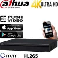 מערכת הקלטה NVR ל 16 מצלמות אבטחה IP עד 8MP  דיסק 1TB דגם DHI-NVR4116