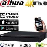 מערכת הקלטה NVR ל 16 מצלמות אבטחה IP כולל PoE רזולוציה 4K 8MP דיסק 2TB דגם DHI-NVR4416-16P-4KS2