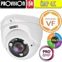 """מצלמת כיפה 8MP עדשה חשמלית 2.8-12 מ""""מ סדרה Pro"""