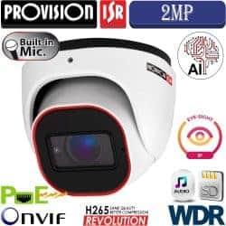 """מצלמת כיפה 2MP עדשה 2.8 מ""""מ סדרה Eye-Sight V2 אנליטיקה מיקרופון מובנה"""