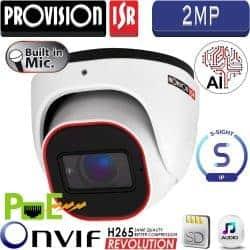"""מצלמת כיפה 2MP עדשה משתנה 2.8-12 מ""""מ מיקרופון מובנה תמיכה כרטיס זיכרון"""