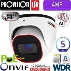 """מצלמת כיפה 4MP עדשה 2.8 מ""""מ אנליטיקה מיקרופון מובנה כרטיס זיכרון"""