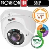 """מצלמת כיפה 5MP עדשה חשמלית 2.8-12 מ""""מ סדרה Ultra"""
