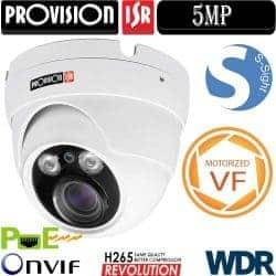 """מצלמת כיפה אינפרה IP רזולוציה 5MP עדשה חשמלית 2.8-12 מ""""מ"""