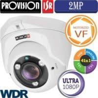"""מצלמת כיפה 2MP עדשה חשמלית 2.8-12 מ""""מ סדרה Ultra  כולל WDR"""