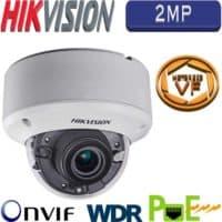 """מצלמת כיפה IP אינפרה 2MP עדשה חשמלית 2.8-12 מ""""מ כולל WDR מלא דגם DS-2CD1721FWD-IZ"""