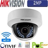 """מצלמת כיפה IP אינפרה רזולוציה 2MP עדשה 4 מ""""מ אודיו דו כיווני כרטיס זיכרון תומך Wi-Fi דגם DS-2CD2120F-IWS"""