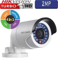 """מצלמת אבטחה צינור אינפרה 2MP טורבו Hikvision עדשה 3.6 מ""""מ טווח הארה 20  מטר דגם DS-2CE16D0T-IRF"""