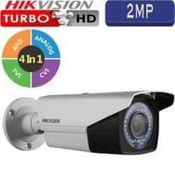 """מצלמת אבטחה צינור אינפרה 2MP טורבו Hikvision עדשה משתנה 2.8-12 מ""""מ טווח הארה 40  מטר דגם DS-2CE16D1T-VFIR3F"""