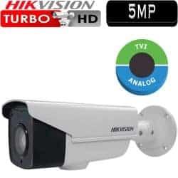 """מצלמת אבטחה צינור אינפרה 5MP טורבו Hikvision עדשה 3.6 מ""""מ טווח הארה 40  מטר דגם DS-2CE16H1T-IT3"""