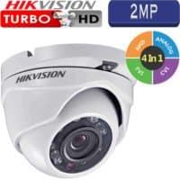 """מצלמת אבטחה כיפה אינפרה 2MP טורבו Hikvision עדשה 3.6 מ""""מ טווח הארה 20  מטר דגם DS-2CE56D0T-IRMF"""