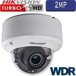 """מצלמת אבטחה כיפה אינפרה 2MP עדשה משתנה 2.8-12 מ""""מ טווח הארה 40 מטר כולל WDR מלא דגם DS-2CE56D7T-VPIT3Z"""