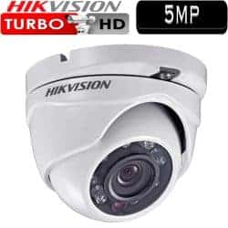 """מצלמת אבטחה כיפה אינפרה 5MP עדשה 3.6 מ""""מ טווח הארה 20 מטר דגם DS-2CE56H1T-ITM"""