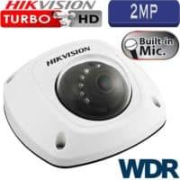 """מצלמת אבטחה כיפה אינפרה 2MP עדשה 4 מ""""מ טווח הארה 10 מטר כולל WDR מלא כולל מיקרופון מובנה דגם DS-2CS54D7T-IRS"""