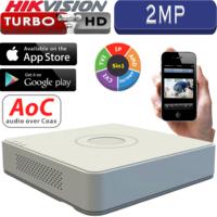 מערכת הקלטה Hikvision ל 4 מצלמות אבטחה + 2IP רזולוציה 2MP דיסק 1T