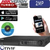 מערכת הקלטה Hikvision ל 24 מצלמות אבטחה + 2IP רזולוציה 2MP דיסק 1TB דגם DS-7324HGHI-SH