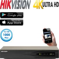 מערכת הקלטה NVR ל 16 מצלמות אבטחה רזולוציה 12MP דיסק 1TB