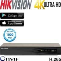 מערכת הקלטה NVR ל 16 מצלמות אבטחה רזולוציה 4K דיסק 1TB דגם DS-7616NI-K2