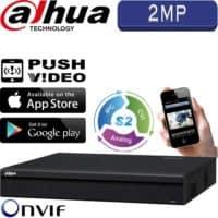 מערכת הקלטה היברידית HDCVR ל 16 מצלמות אבטחה 2MP בנוסף 8 מצלמות IP דיסק 2TB יציאת HDMI דגם HCVR5116