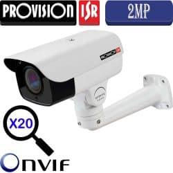 """מצלמת צינור IP ממונעת 2MP ניתנת לפיקוד טווח אופקי 360°, אנכי 95°, כולל זום אופטי כפול 20 עדשה 5-100 מ""""מ"""