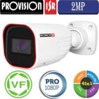 """מצלמת צינור 2MP עדשה משתנה 2.8-12 מ""""מ סדרה Pro אינפרה 40 מטר מוגנת מים"""