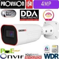 """מצלמת צינור 4MP עדשה 3.6 מ""""מ אנליטיקה מתקדמת DDA כולל WDR מלא כרטיס זיכרון"""