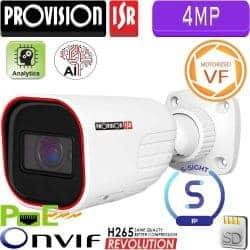 """מצלמת צינור 4MP עדשה חשמלית 2.8-12 מ""""מ אנליטיקה חריץ לכרטיס זיכרון"""
