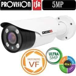 """מצלמת צינור 5MP עדשה חשמלית 2.8-12 מ""""מ סדרה Ultra"""