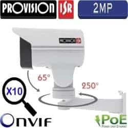 """מצלמת צינור IP ממונעת 2MP ניתנת לפיקוד טווח אופקי 250°, אנכי 65°, זום אופטי כפול 10 עדשה 5-50 מ""""מ"""