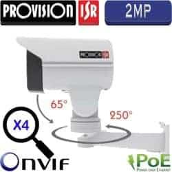 """מצלמת צינור IP ממונעת 2MP ניתנת לפיקוד טווח אופקי 250°, אנכי 65° זום אופטי כפול 4 עדשה 5-20 מ""""מ"""
