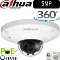 """מצלמת כיפה IP עין הדג רזולוציה 5MP עדשה 1.18מ""""מ 360 מעלות, חריץ כרטיס זיכרון IPC-EB5500"""