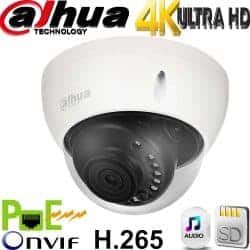 """מצלמת כיפה IP אינפרה רזולוציה 8MP 4K עדשה חשמלית 7-35 מ""""מ טווח הארה 50 מטר אנליטיקה מתקדמת IPC-HDBW5830E-Z5"""