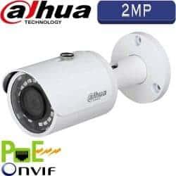 """מצלמת צינור IP אינפרה רזולוציה 2MP עדשה 3.6 מ""""מ טווח הארה 30 מטר מוגנת מים IPC-HFW1220S"""