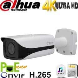 """מצלמת צינור IP אינפרה רזולוציה 8MP 4K עדשה 4 מ""""מ טווח הארה 40 מטר אנליטיקה מתקדמת IPC-HFW4830E-S"""